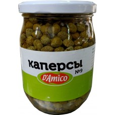 D'Amico, Каперсы маринованные N9, 580г